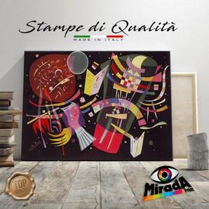 Vasilij Kandinsky /'Composition 8/' Stampa su tela Canvas Quadro Astratto Arredo